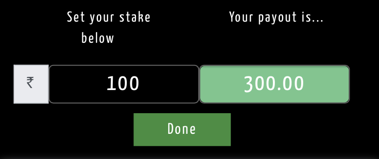 stake amount